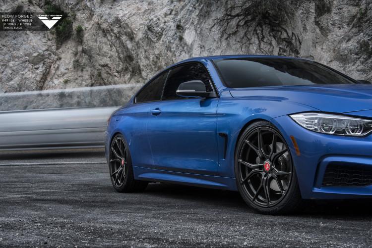 Estoril Blue BMW 4 Series With Vorsteiner Wheels