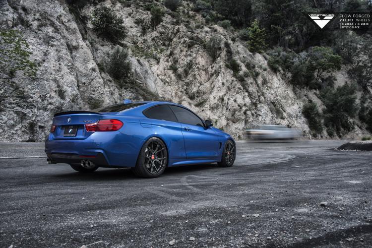 Estoril Blue BMW 4 Series With Vorsteiner Wheels Installed By VIBE Motorsports 5 750x500