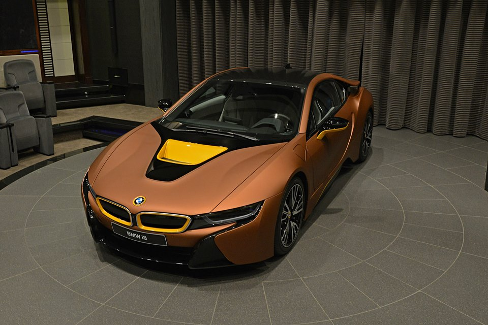 Bmw I8 Gets A Matte Copper Wrap