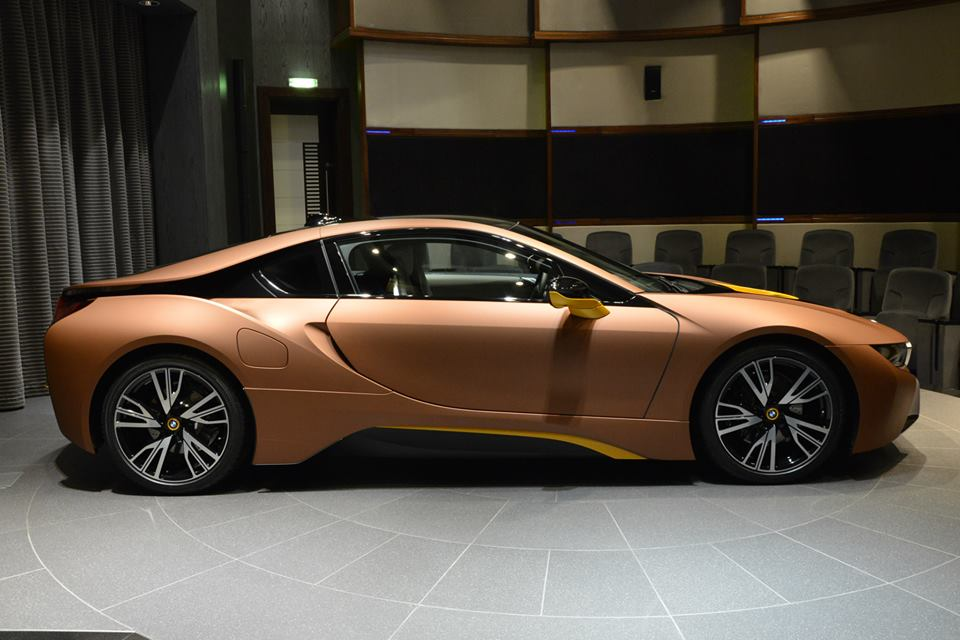 BMW I8 Top Speed >> BMW i8 gets a matte copper wrap