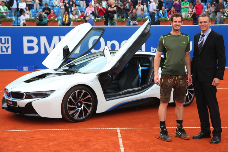 Bmw Of Murray >> Andy Murray Wins Bmw Open And A Bmw I8