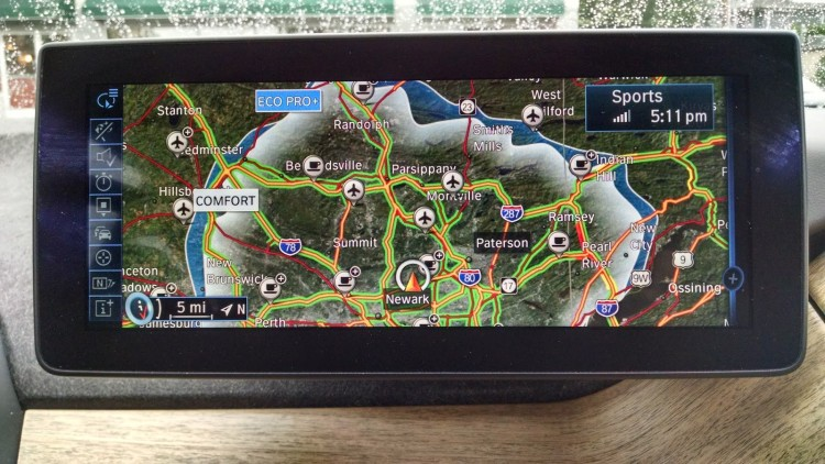 "The i3's navigation ""spider map"" offers a pretty accurate visual display on the cars current range in the different driving modes."