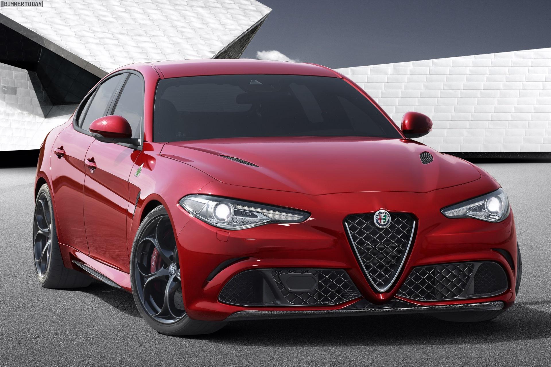 Alfa Romeo Giulia Quadrifoglio Verde vs BMW M3 - Photo ...
