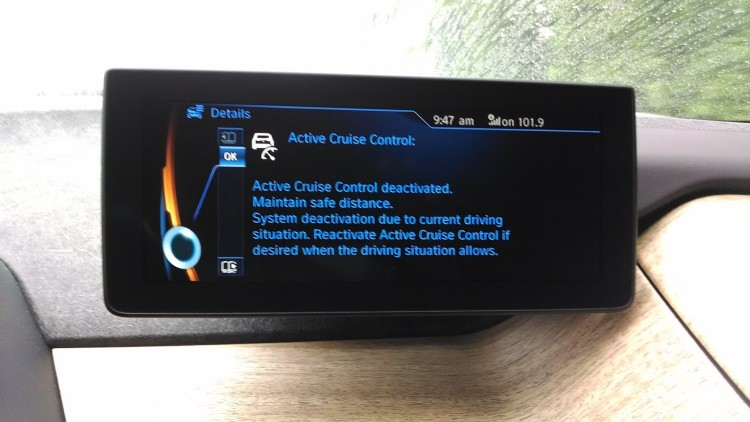 When the ACC disengages, you get this warning. The problem is by then it's already disengaged and the car is applying the regenerative braking.