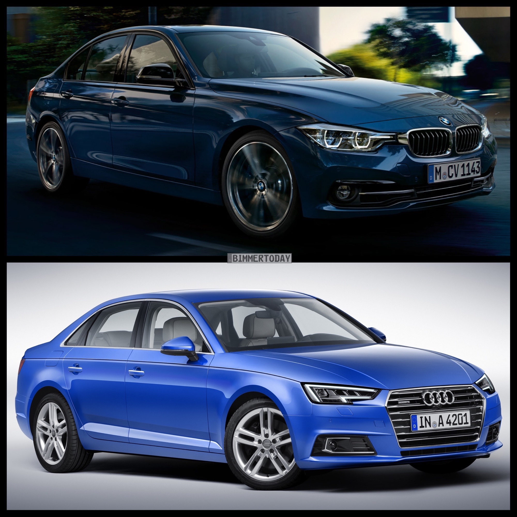 Photo Comparison: 2016 BMW 3 Series Vs. 2017 Audi A4