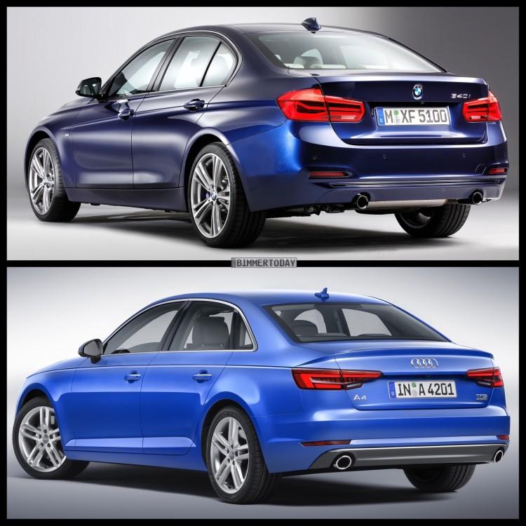 Bild Vergleich BMW 3er F30 LCI Audi A4 Limousine 2015 03 750x750
