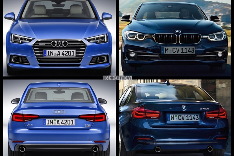 Photo Comparison 2016 Bmw 3 Series Vs 2017 Audi A4