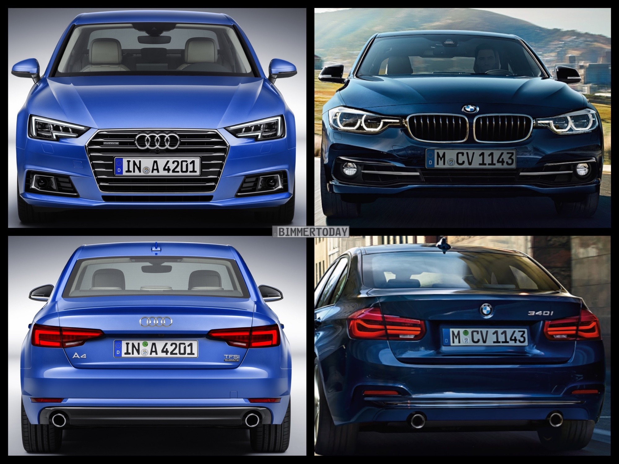 Bild Vergleich BMW 3er F30 LCI Audi A4 Limousine 2015 04