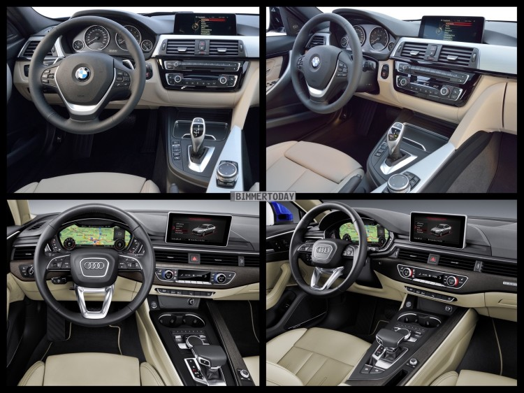Bild Vergleich BMW 3er F30 LCI Audi A4 Limousine 2015 05 750x562