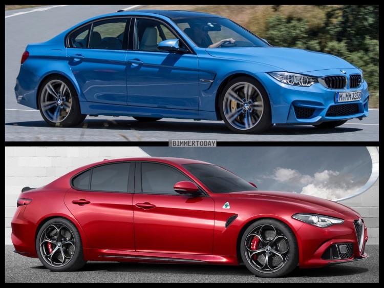 Bild Vergleich BMW M3 F80 Alfa Romeo Giulia 2016 02 750x562