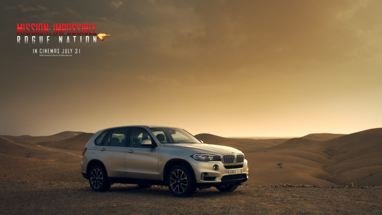 Mission Impossible 5 Rogue Nation Wallpaper BMW X5 01 750x422