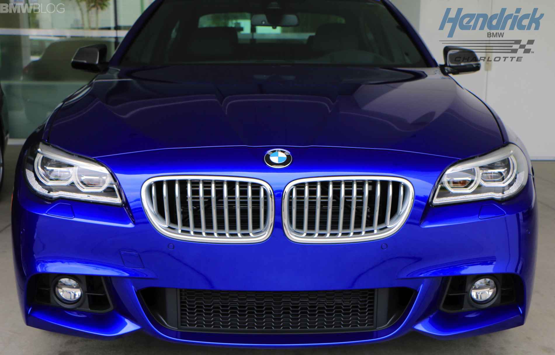 Bmw 550i In San Marino Blue With M Performance Parts