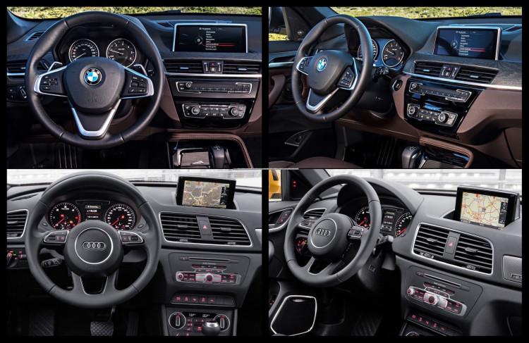 BMW X1 Audi Q3 interior 750x487