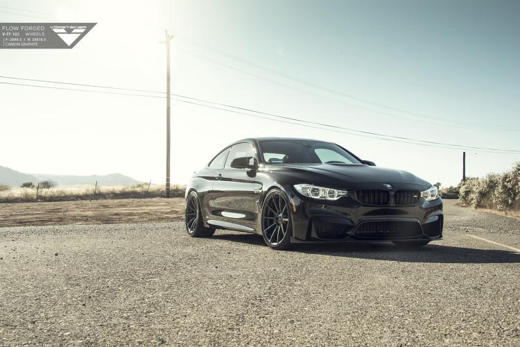 Black Sapphire Metallic BMW F82 M4 With Vorsteiner Aero And Wheels 1 750x500