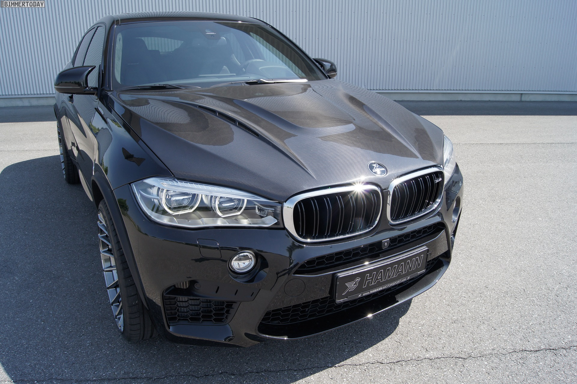 hamann bmw x6 m with 640 hp and carbon fiber hood. Black Bedroom Furniture Sets. Home Design Ideas