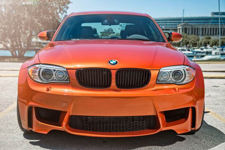Valencia Orange BMW 1M On VMR Wheels