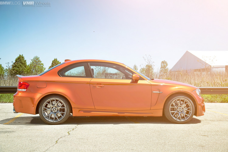 Valencia Orange BMW 1M On VMR Wheels