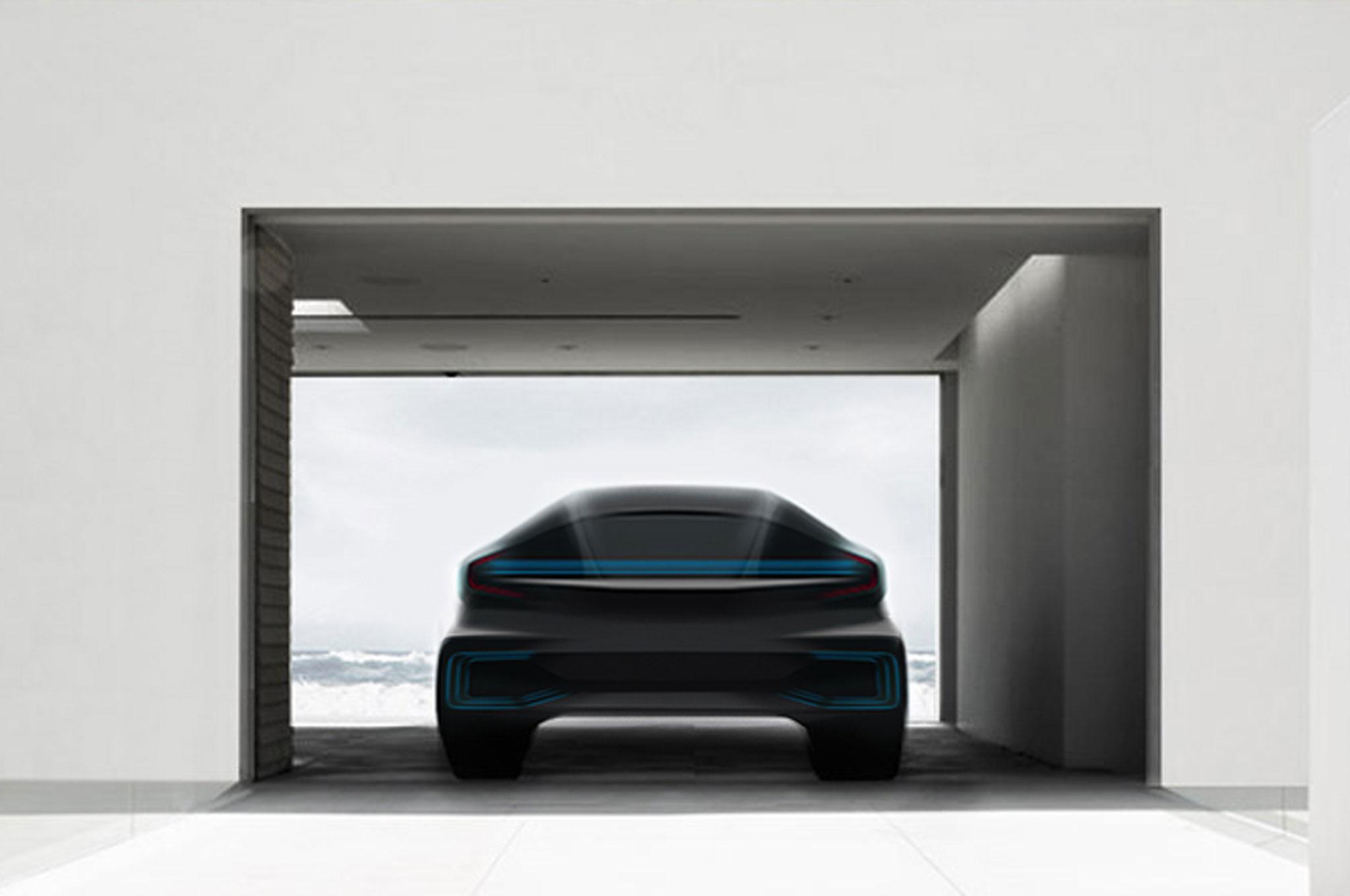 faraday future rear view teaser