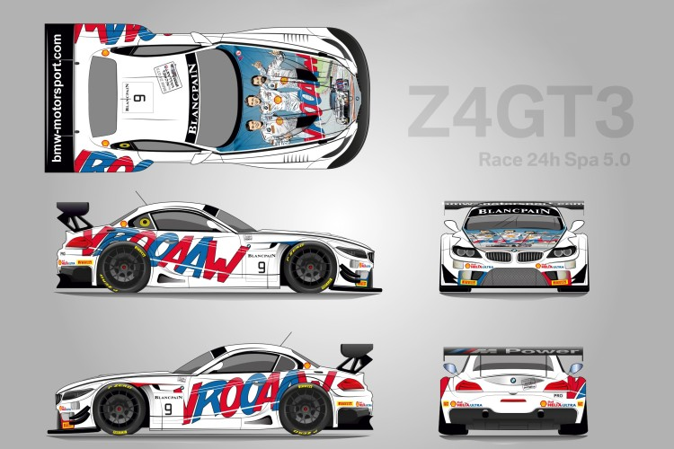 two bmw z4 gt3s carton style design 750x500