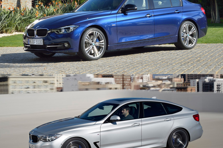 BMW 3 series sedan vs 3 series gran turismo 750x500