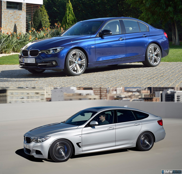 BMW 3 series sedan vs 3 series gran turismo 750x717