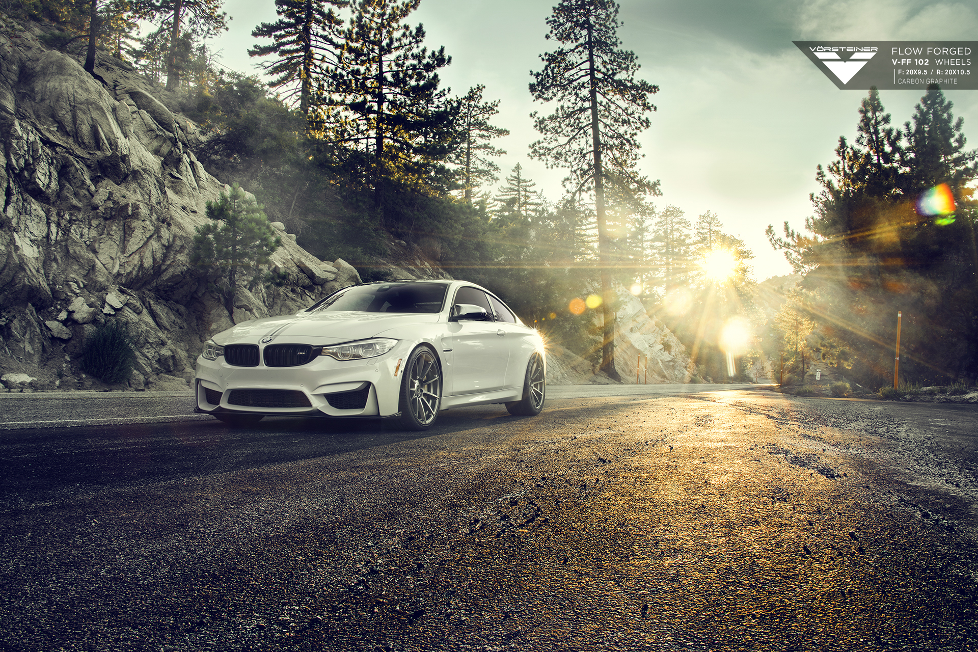 BMW F82 M4 With Vorsteiner Flow Forged V-FF 102 Wheels