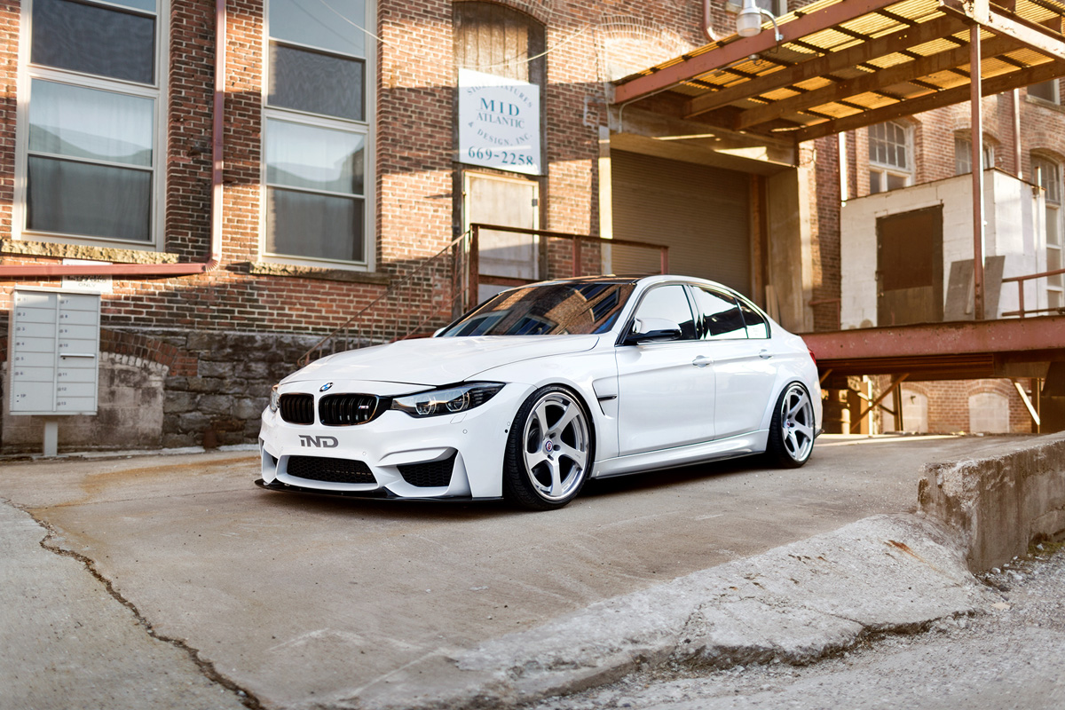 BMW M3 with HRE RS102 Wheels 2