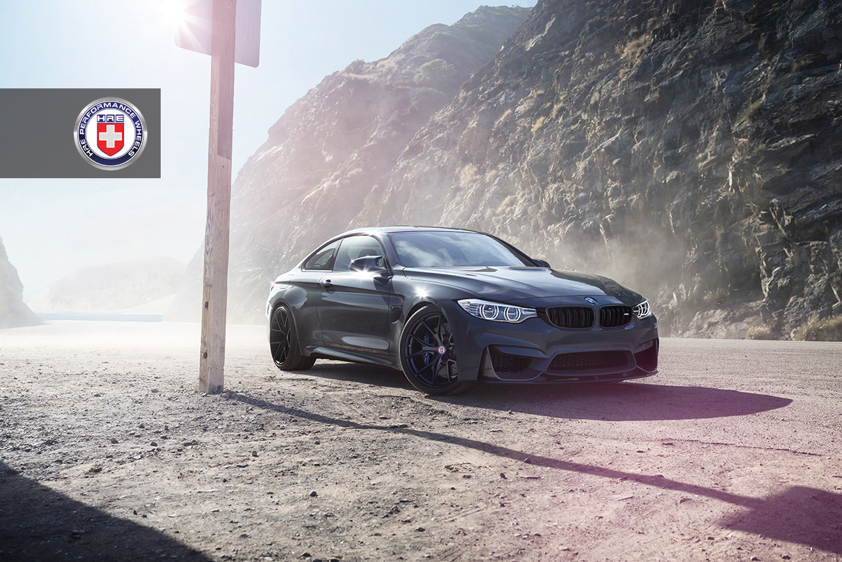Grigio Medio BMW M4 with HRE P101 in Satin Black 1