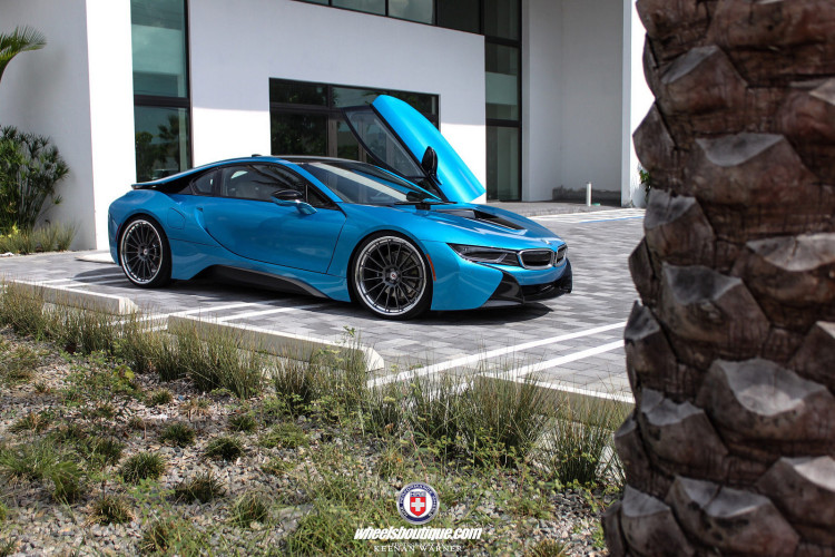 A BMW i8 Equipped With HRE RS103 Wheels