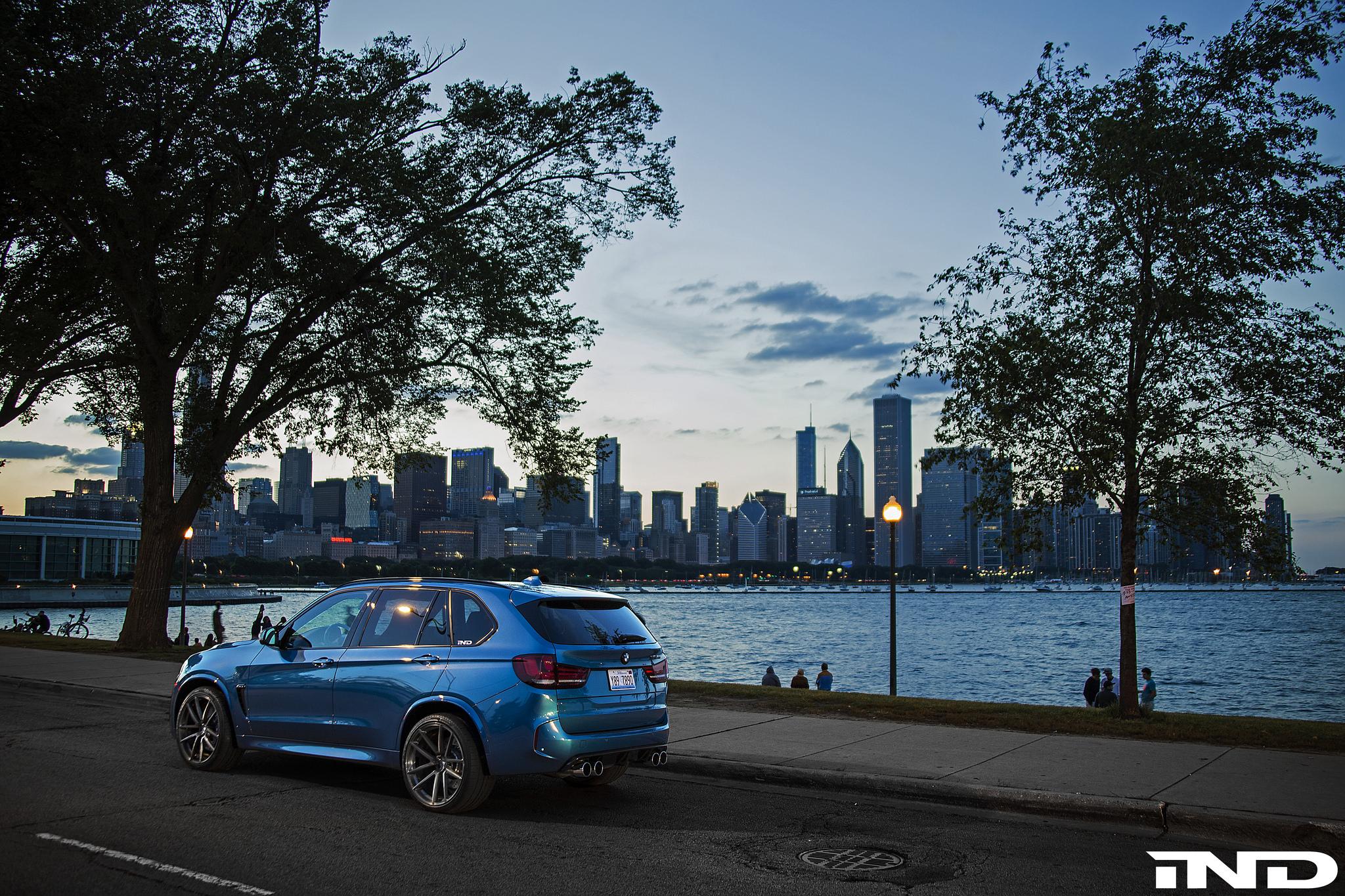 A Clean IND Long Beach Blue Metallic BMW X5 M Project 1