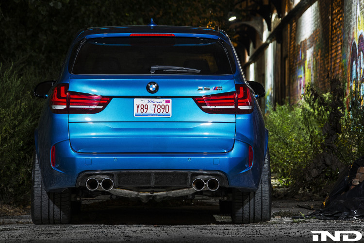 A Clean IND Long Beach Blue Metallic BMW X5 M Project 5 750x500