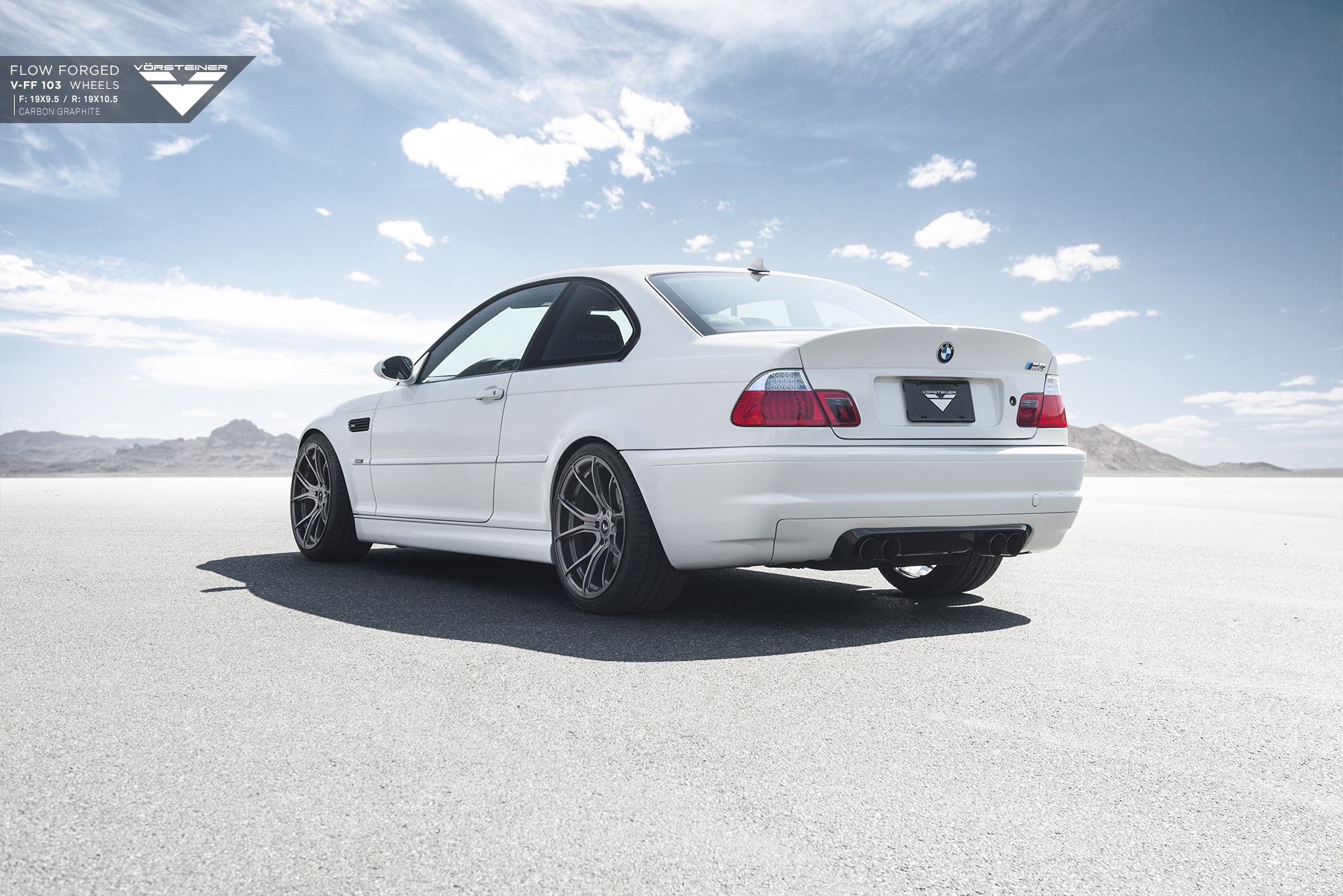 Alpine White BMW E46 M3 Updated With Vorsteiner Wheels 3