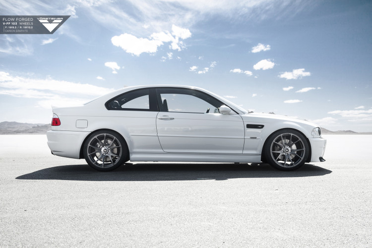 Alpine White BMW E46 M3 Updated With Vorsteiner Wheels 5