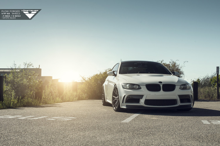 Alpine White BMW E92 M3 With Vorsteiner V FF 103 Wheels 1 750x500