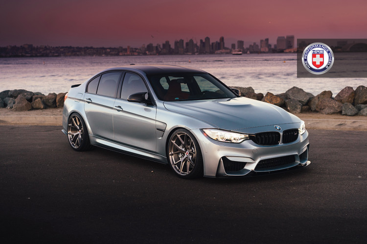 BMW M3 F80 with HRE P101 in Brushed Dark Clear 7 750x500