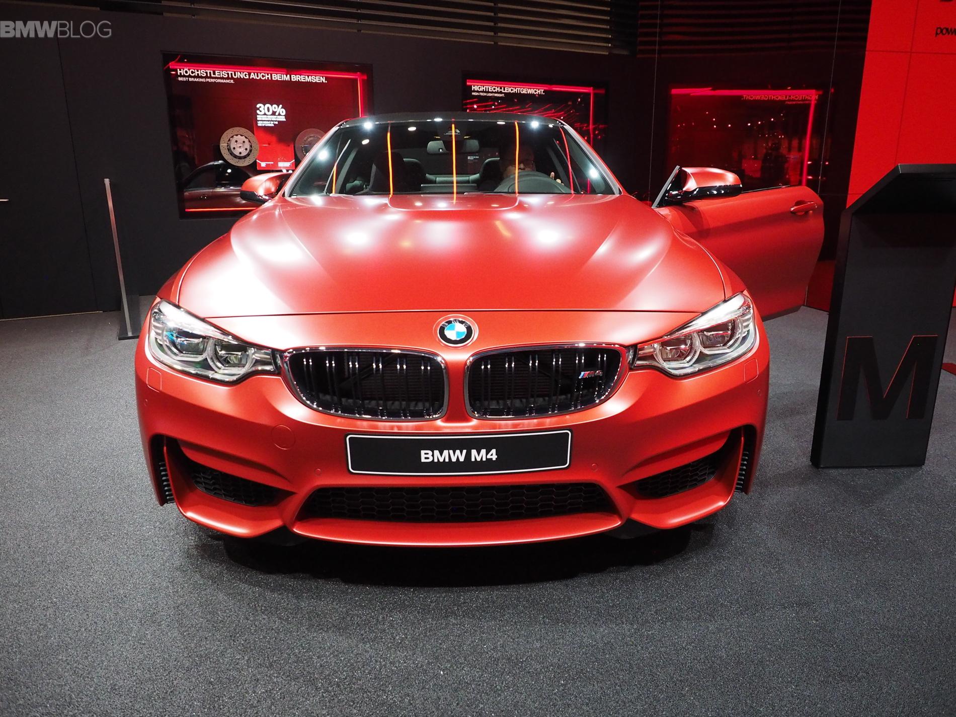 Bmw M4 In Frozen Red Metallic Shows Up In Frankfurt