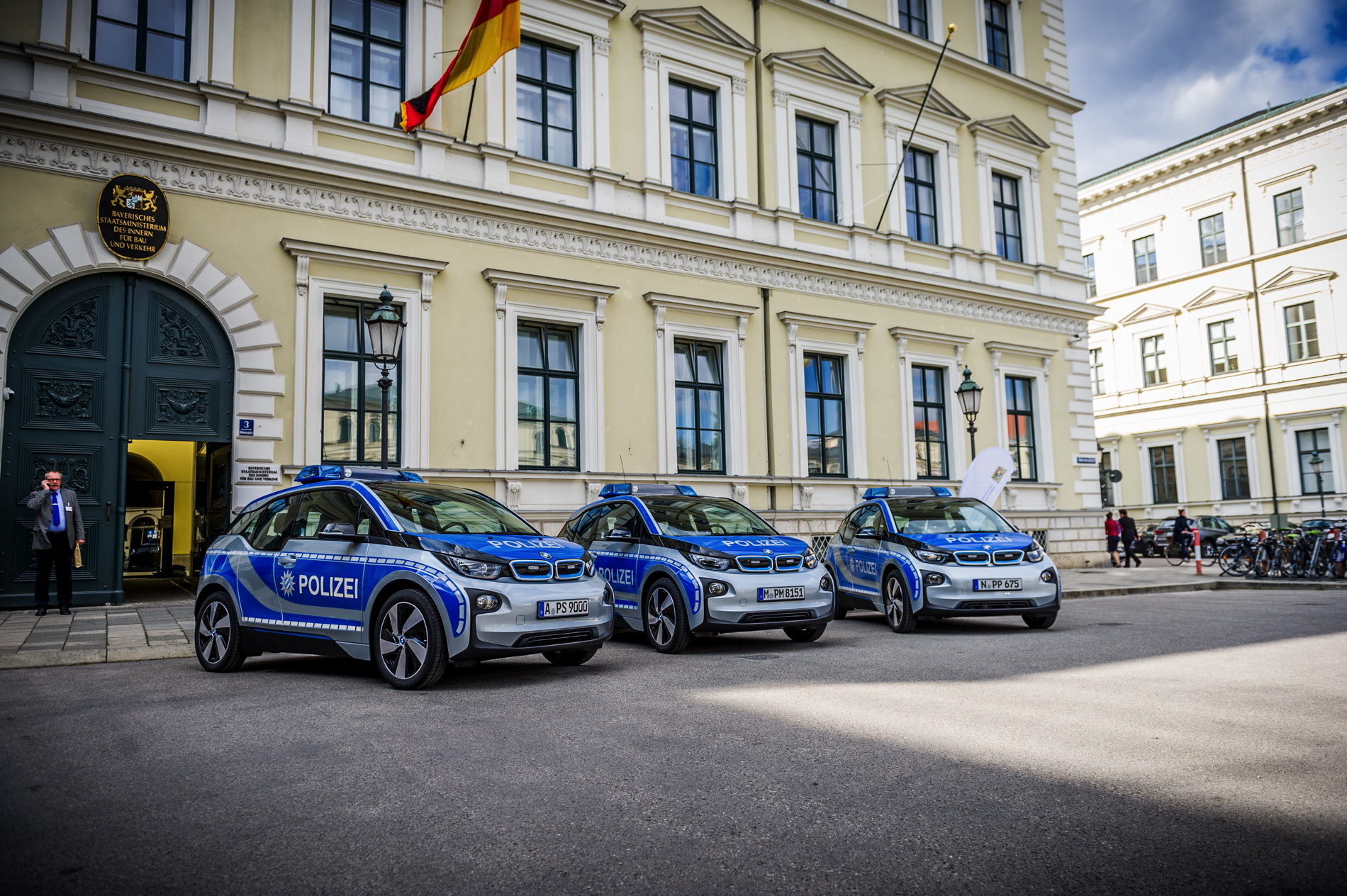 Munich police fleets gets BMW i3 cars
