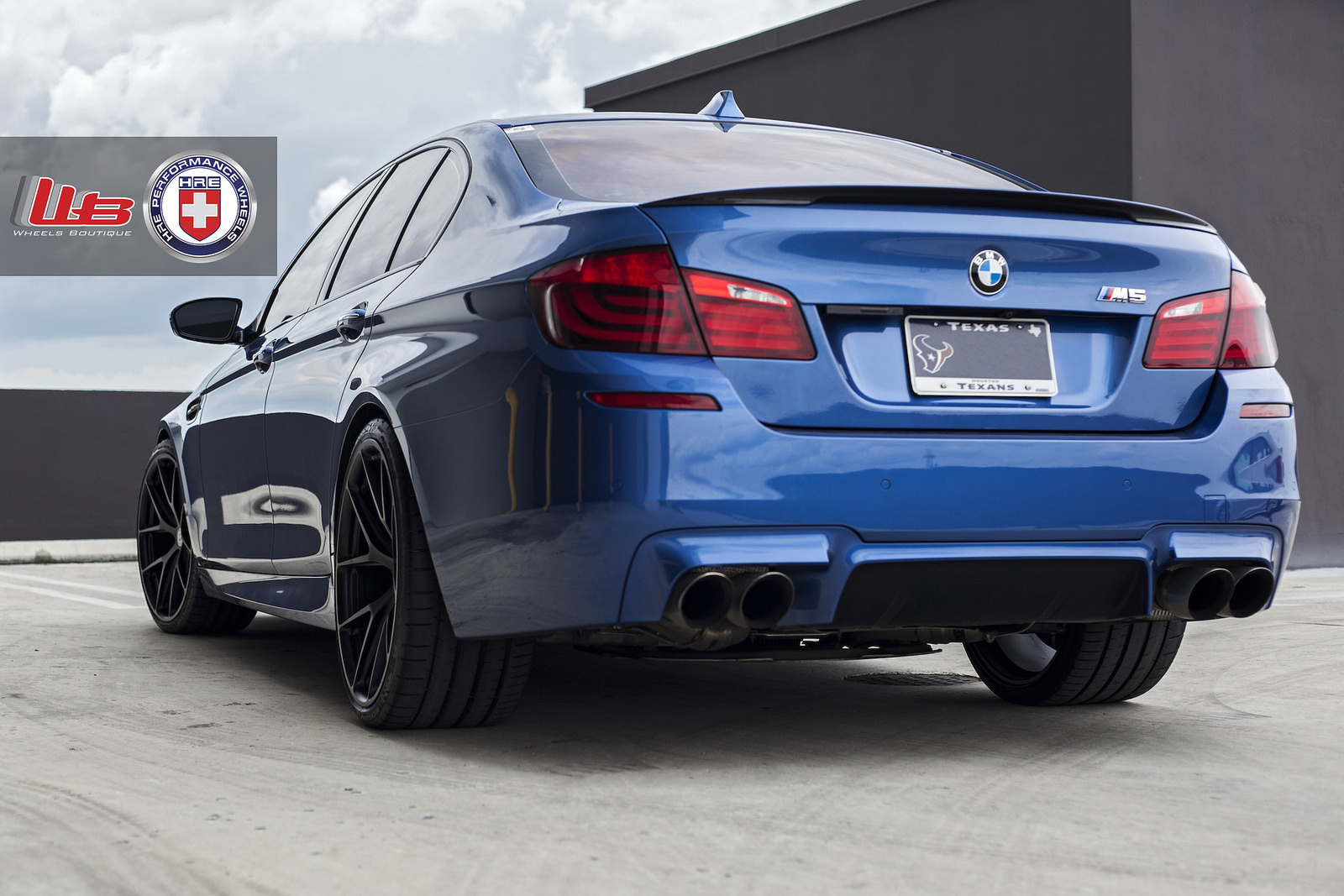 Clean Looking Monte Carlo Blue Bmw F10 M5 On Hre Wheels