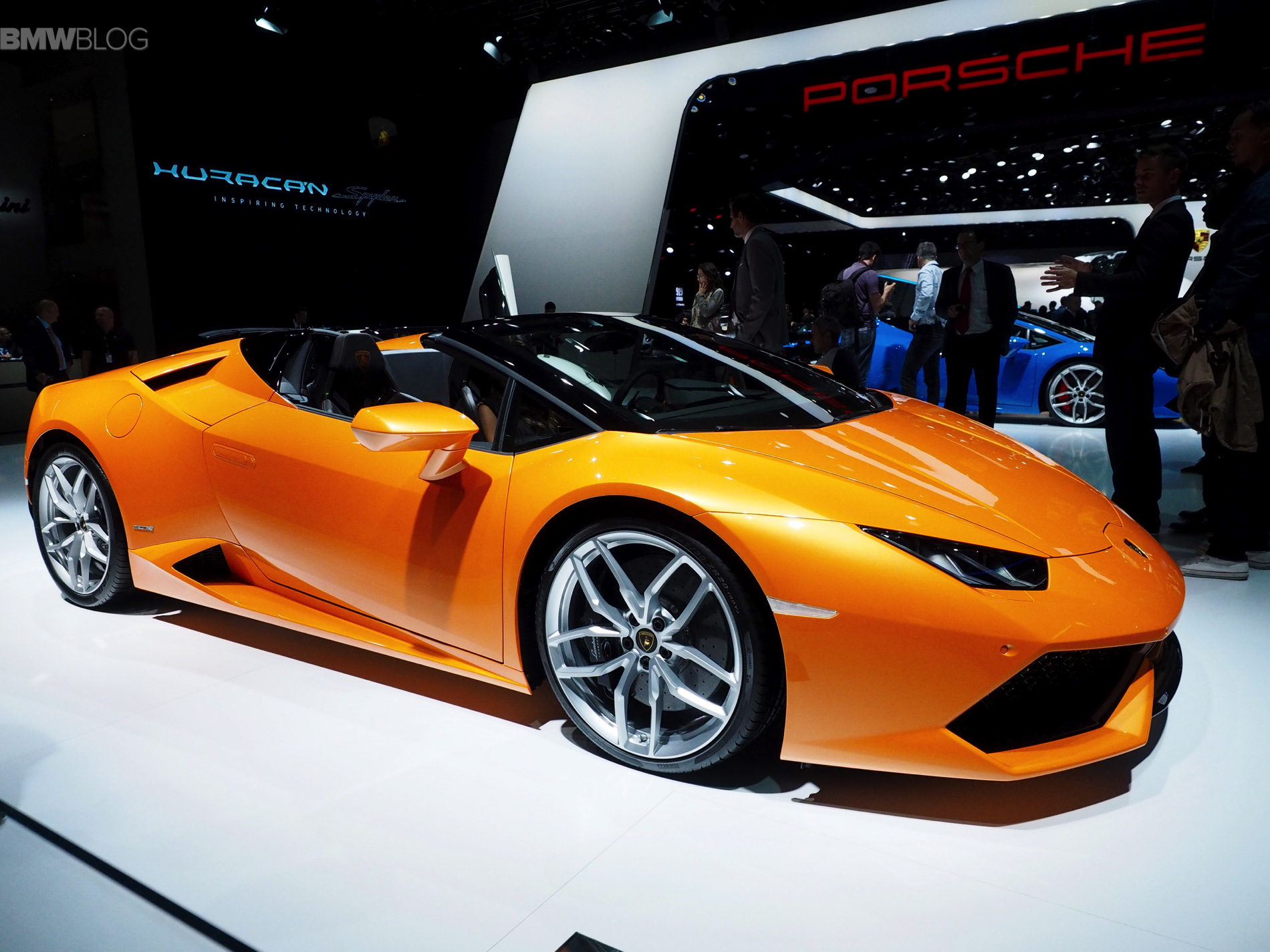 Lamborghini Huracan Spyder Displayed In Frankfurt