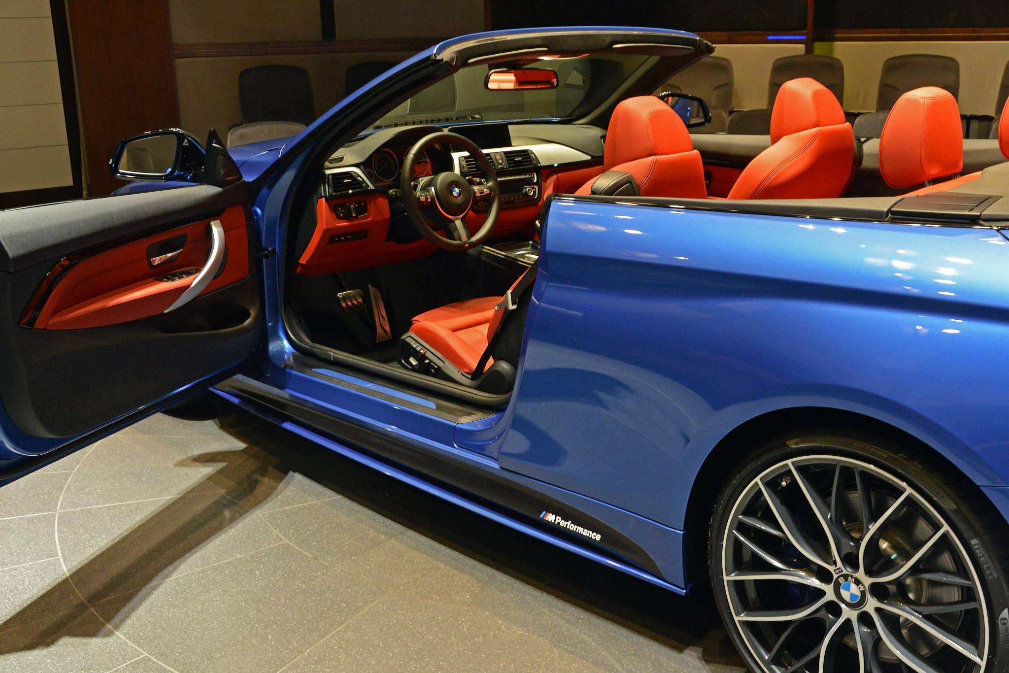 BMW Aftermarket Parts >> BMW 435i Convertible in Estoril Blue and with M Performance Parts