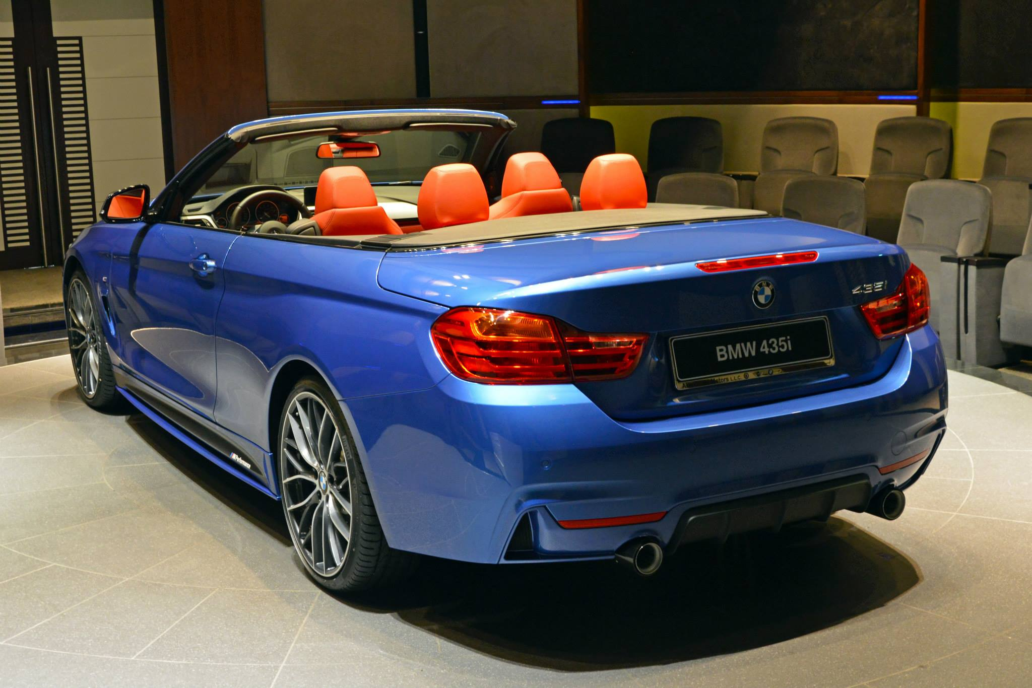 bmw 435i convertible in estoril blue and with m. Black Bedroom Furniture Sets. Home Design Ideas