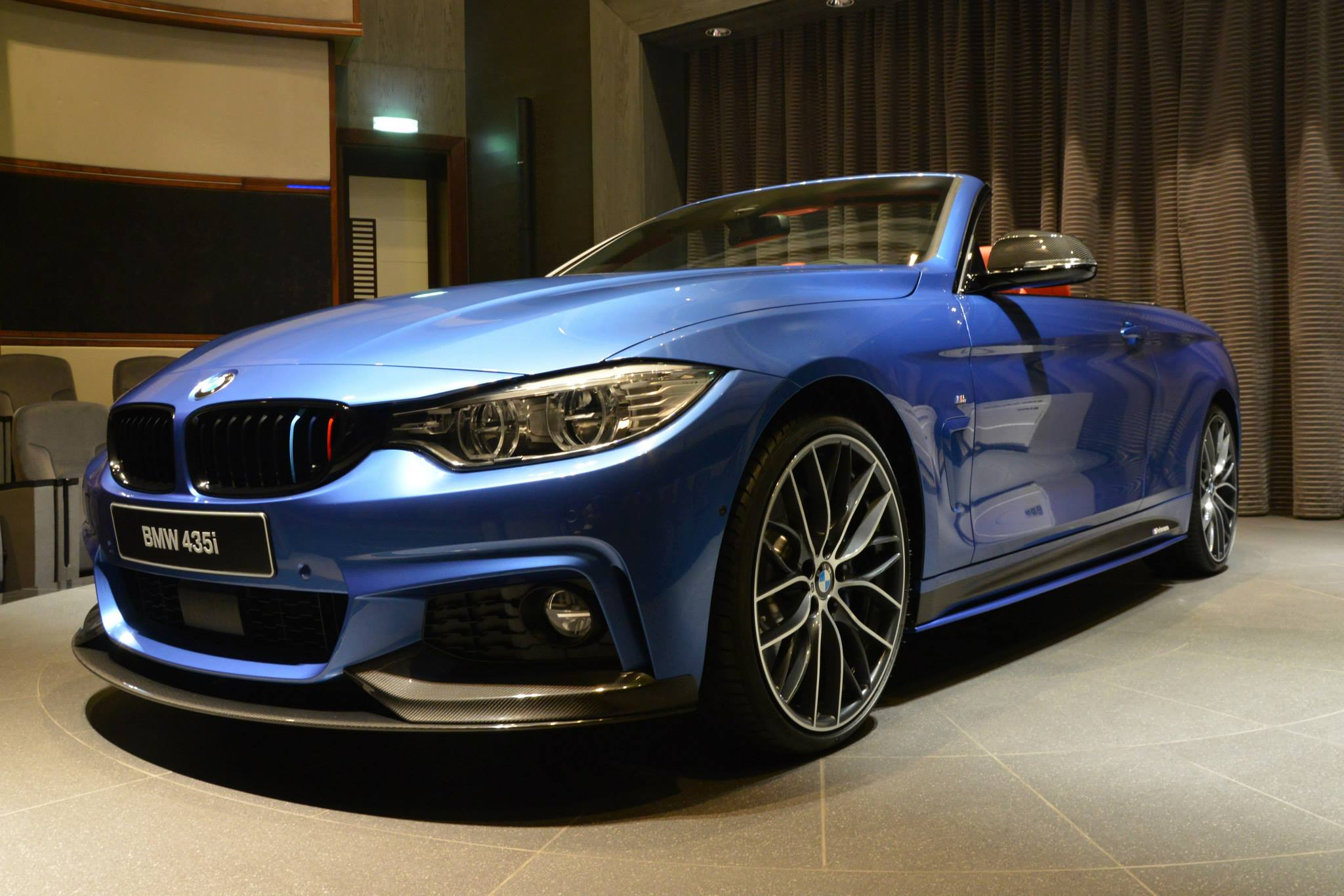 Bmw 435i Convertible In Estoril Blue And With M Performance Parts