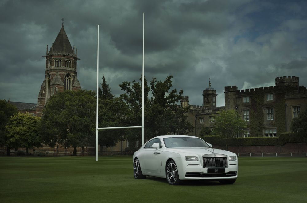 rolls rocye wraith history of rugby front three quarters