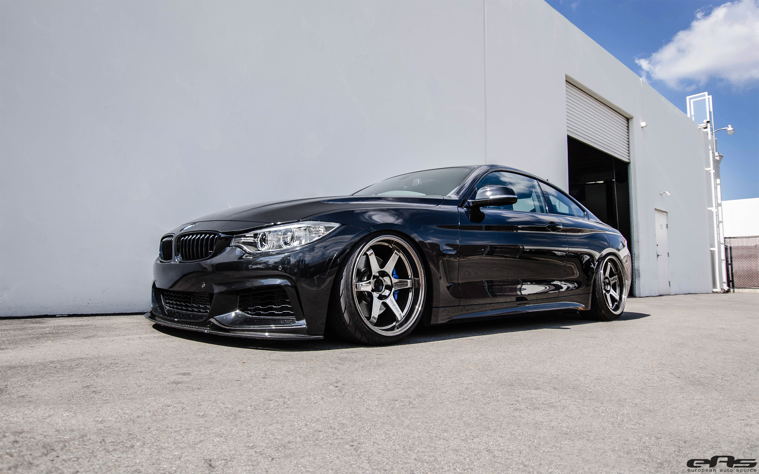 Bmw 428i Coupe Sitting On Volk Te37 Wheels