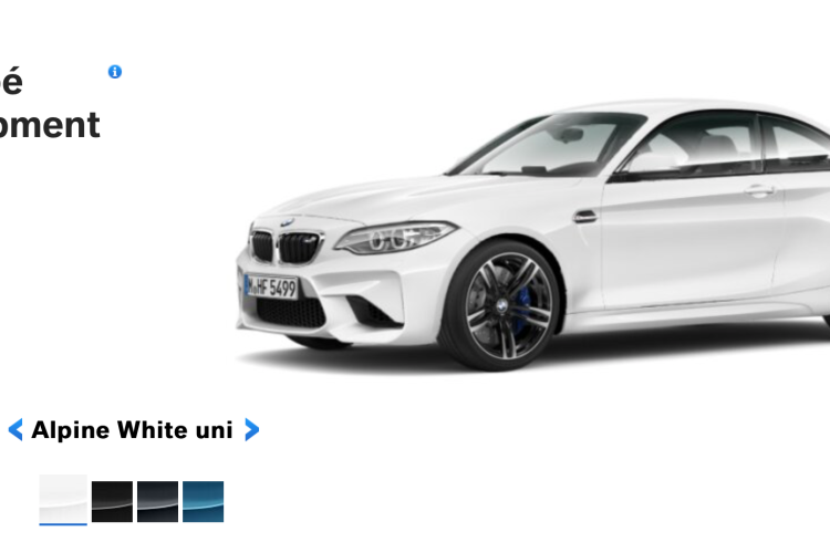 BMW M2 Alpine White 750x500