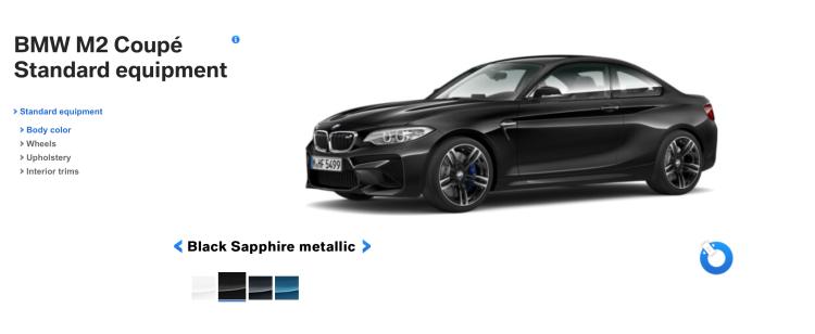 BMW M2 Black Sapphire 750x308