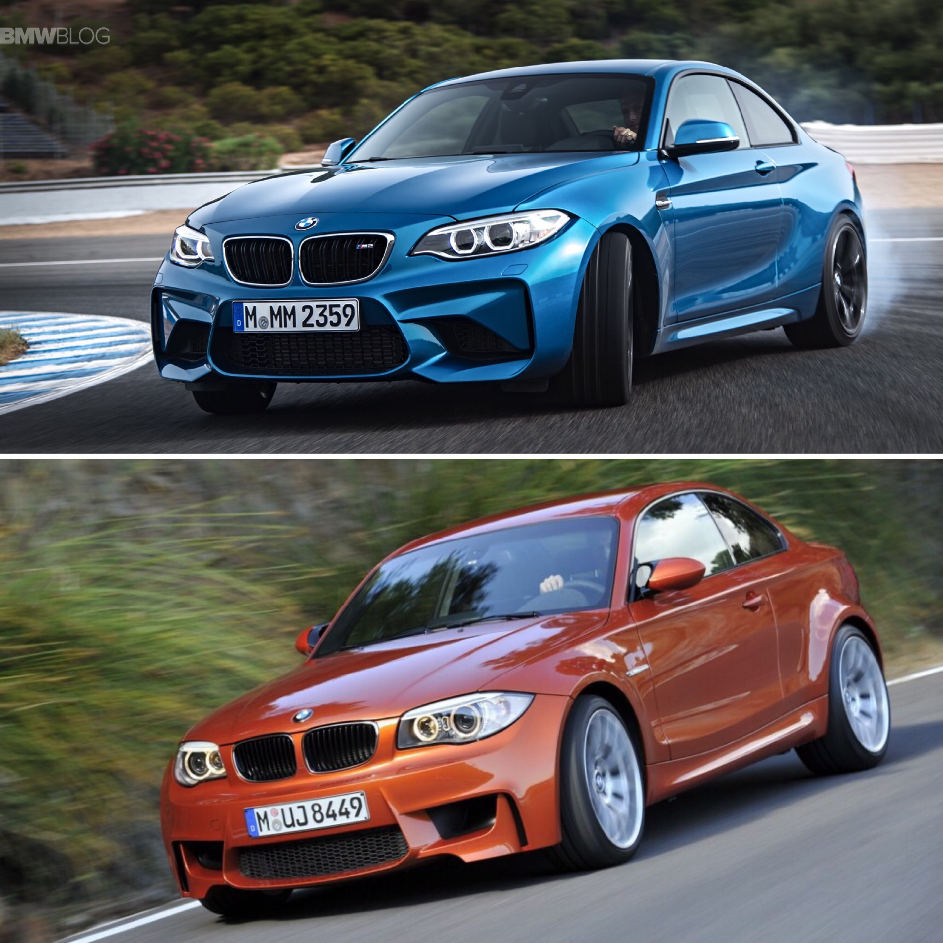 BMW M2 vs BMW 1M comparison 07