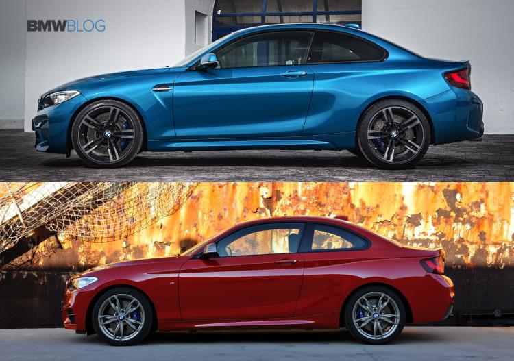 BMW M2 vs BMW M235i 750x527