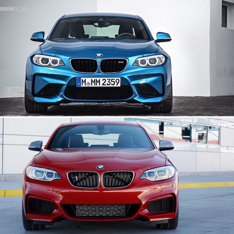 BMW M2 vs BMW M235i comparison 01 750x750