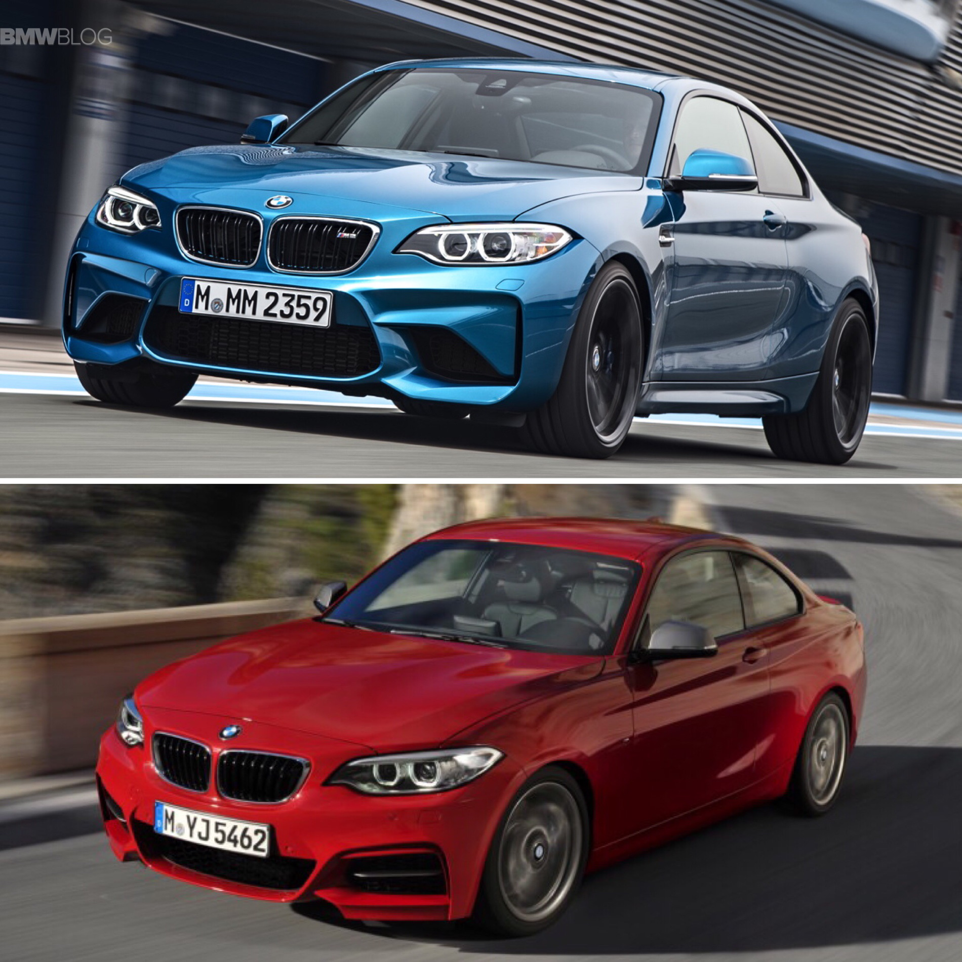 Bmw M2 Vs Bmw M235i Photo Comparison